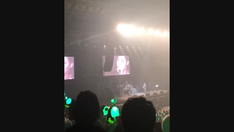 [2018.11.05] Kim Hyun Joong 一緒にTakemyhand Encore at Makuhari Messe Event Hall ~ encore talk2