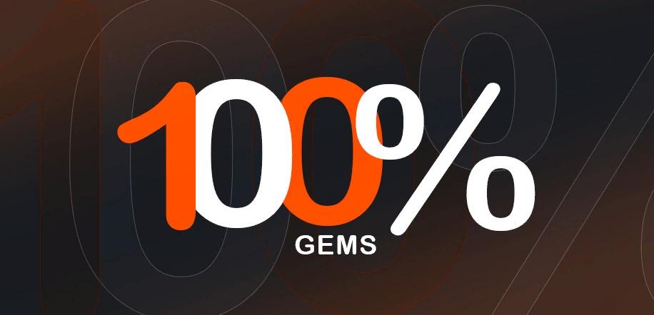 100% получение гемов