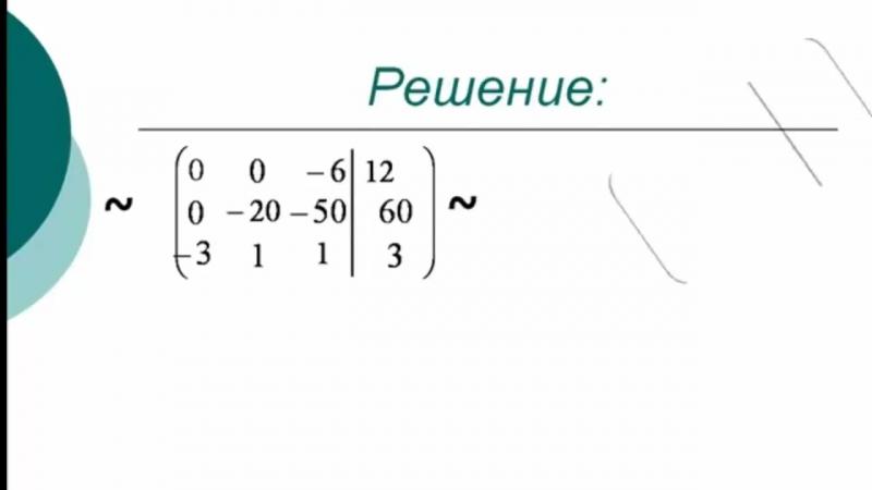 Метод Гаусса решения систем линейных алгебраических уравнений СЛАУ