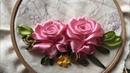 D I Y Ribbon Embroidery Roses Hướng dẫn thêu ruy băng hoa hồng