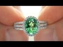 UNHEATED VS Tsavorite Diamond Cocktail Ring Up For eBay Auction