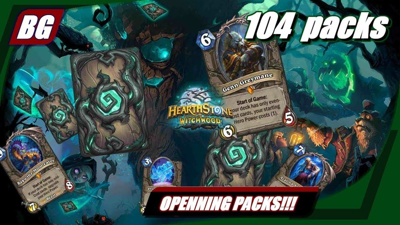 Openning 100 Witchwood Heartstone Packs