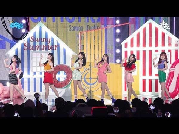 [예능연구소 직캠] 여자친구 여름여름해 @쇼!음악중심_20180721 Sunny Summer GFRIEND in 4K