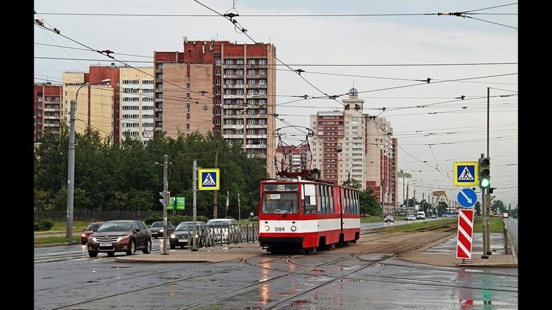 Трамвай 62 Станция метро Купчино-Мал. Балканская Улица