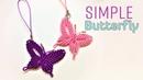 Macrame tutorial - how to make a Simple butterfly keychain - Hướng dẫn thắt dây móc khóa con bướm