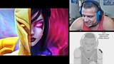 TYLER1 REACTS TO NEW KAYLE AND MORGANA REWORK AND HIS FANART HASHINSHIN'S INSANE WITH YORICK LOL
