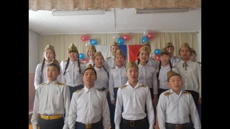 Конкурс Солдатских песен среди учащихся школы №2 г. Турана 8б класс. Арган-оол Р.К.