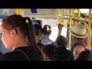 Водитель автобуса №30 за номером KZ 105 AD 08 нарушая безопасность пассажиров в городе Тараз