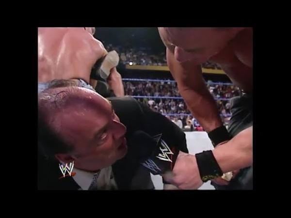 John Cena Chris Benoit Make Paul Heyman Eat Soap Segment SmackDown 01.15.2004