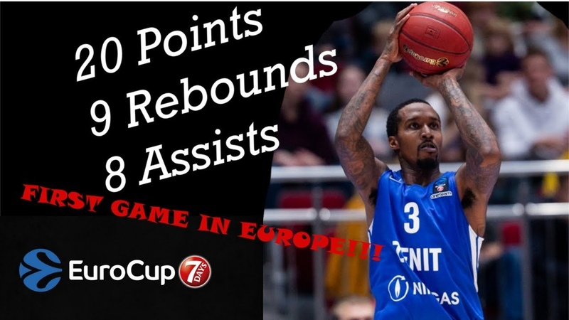 Brandon Jennings Europe Debut 20 Pts, 9 Rebs, 8 Asts 03.10.2018 Zenit vs Turk Telekom | UF44