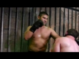 Using a slaves face as punch bag