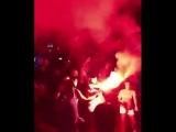 Rangers fans enjoying Benidorm last night