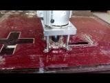 Раскрой тонкого материала на станке с ЧПУ