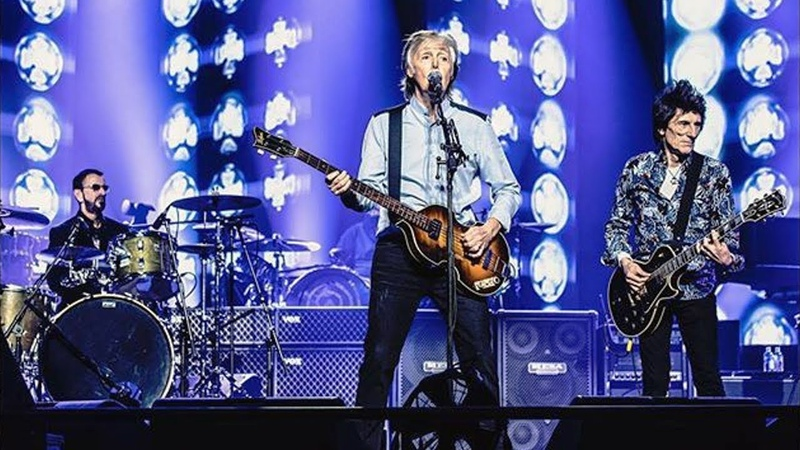 Paul McCartney Ringo Starr Ronnie Wood Get Back Live at O2 Arena London 16 12 2018