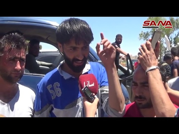 A rally in the outskirts of rural Daraa welcomed the army and supported it in its war against the terrorists
