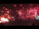 9 мая 2018. Москва, смотровая площадка на Воробьёвых Горах. Хор МИФИ - День Победы , переходящая в салют.
