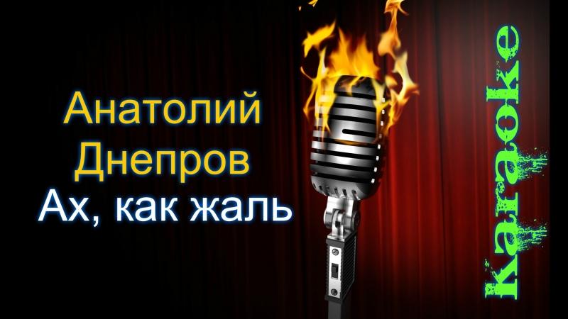 Анатолий Днепров Ах как жаль караоке