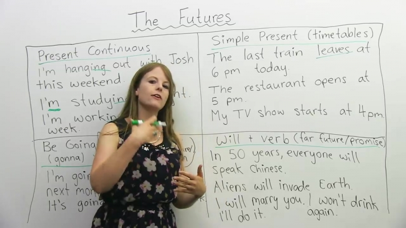 Learn English Tenses- 4 ways to talk about the FUTURE (Learn English with Emma) (transcript)
