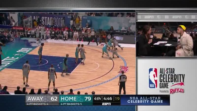 Quavo goes for 27 PTS 9 REB in the Ruffles Celeb Game