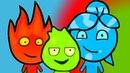 Игра Новые Приключения Огня и Воды 2 3 4 видео Онлайн Превращение в шарик Огонь и вода Ogon i Voda