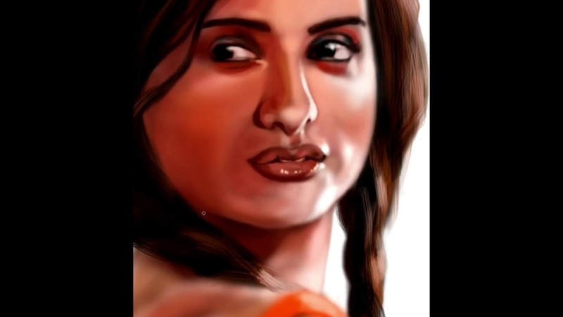Penelope Cruz Painted by Jophin Thomas