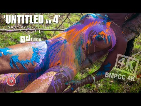 Nude Ebony Action Body Painting 'Untitled No.4' • GD Films • BMPCC 4K Deep House