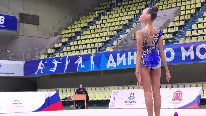 Александра Скубова - лента (финал многоборье) Первенство Москвы 2018