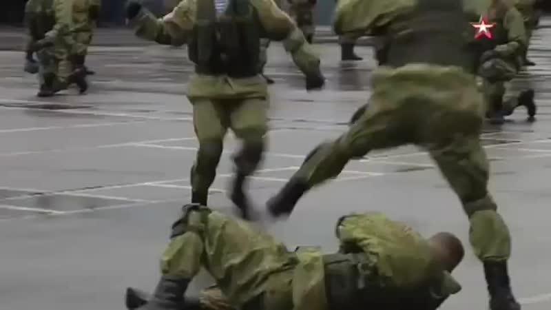 Показательные выступления курсантов Рязанского гвардейского высшего воздушно десантного ордена Суворова дважды Краснознамённое к