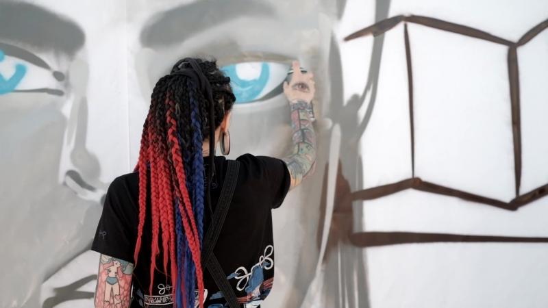 Картина: Кленовый дом на Пречистенской набережной. Финалист Lu Blue. Чемпионат Мира по Граффити 3D на Москве-реке