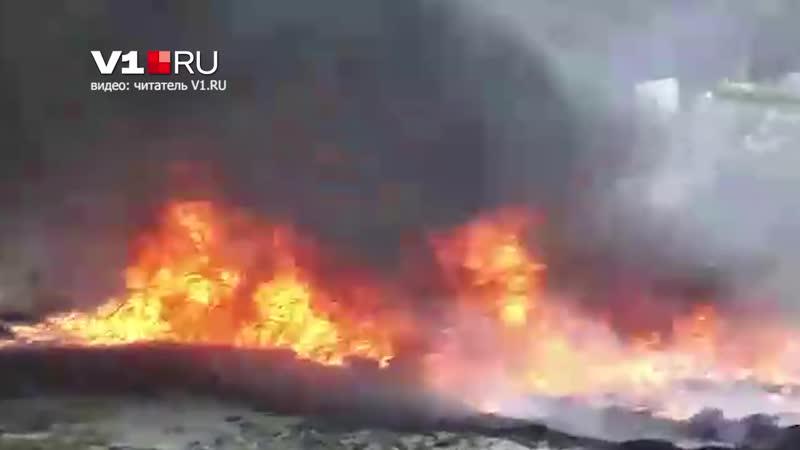 В посёлке Тир горит гудрон