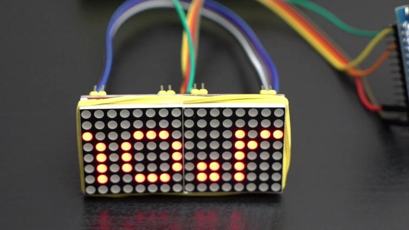 Подключение светодиодной матрицы max7219 к ардуино/arduino своими руками