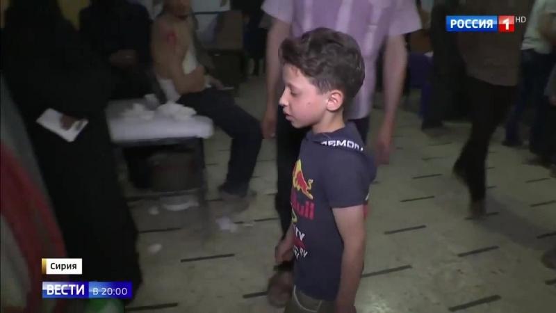 Россия 24 Эксклюзив мальчик с видео Белых касок приехал в больницу где его снимали Россия 24