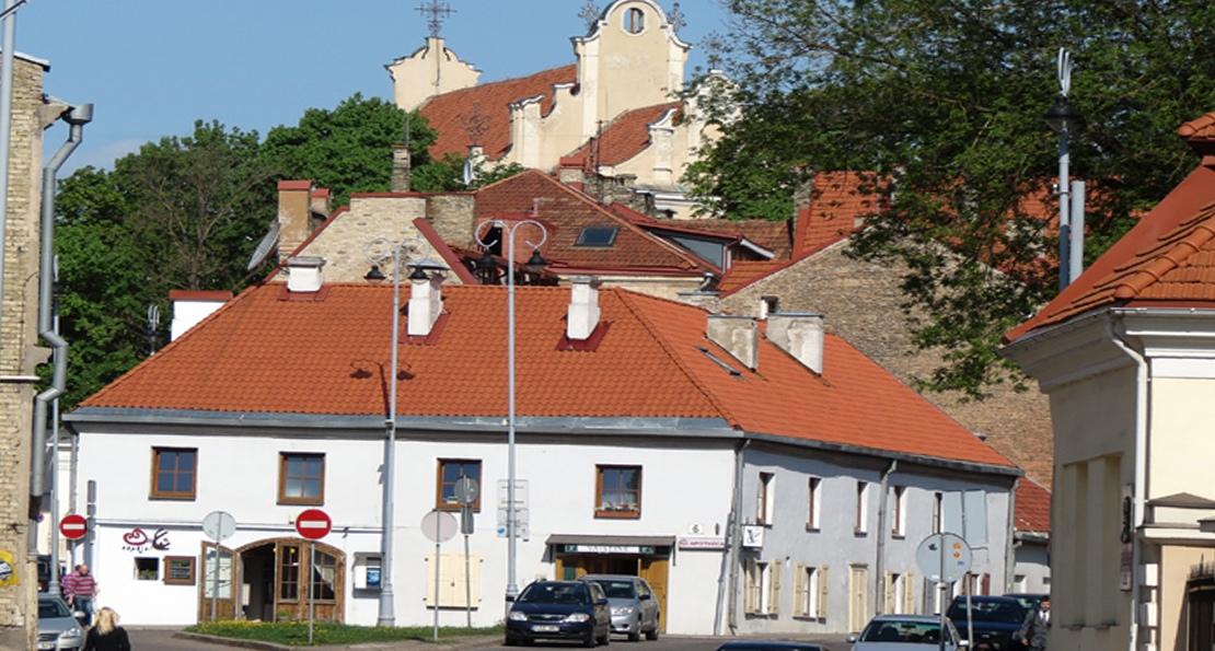 Каменные дома в Вильно