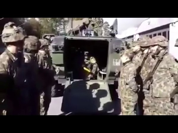 Swis army recreating star wars scene