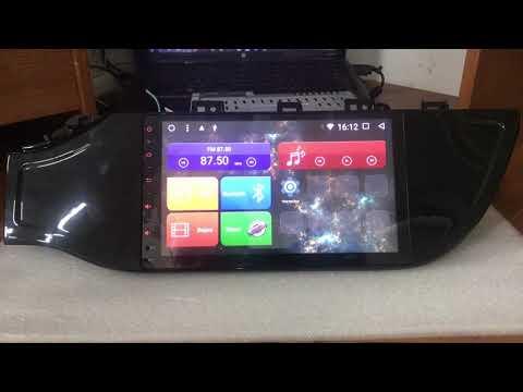 Обзор на столе магнитолы на Kia Rio 2017 Android 7.1.2 Megazvuk T8-9047