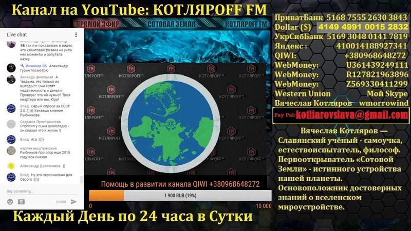 Прямой Эфир КОТЛЯРOFF FM (25.05.2017) Юрий Рыбников