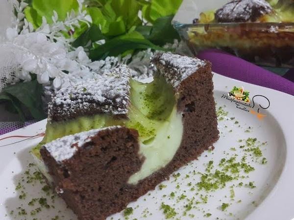 Бисквитный шоколадный пирог с арахисовым пудингом и сыром творогом Fıstık Muhallebili Kafes Pasta l Mutfağımdan Tadlar l Nefis Tarifler
