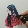 "@nocekko on Instagram ""청하 CHUNG HA . 드로잉 영상. . 📷 ref 트위터 HONEY CHUNG 님 . . 청하 팬아트 일러스트 일4"