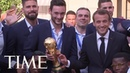 Emmanuel Macron Celebrating France's World Cup Victory Is Emmanuel Macron At His Most Joyful TIME