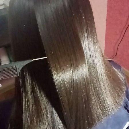 """Анастасия on Instagram: """"Нанопластика😍 Основной эффект это выпрямление, но что не мало важно волосы стали эластичнее, более плотные и упругие😊😉"""""""
