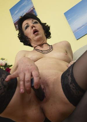 Breasty darksome mother i dildoing her lustful