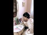 Инстаграм-история в профиле Мелани (19 июля 2018 г.)