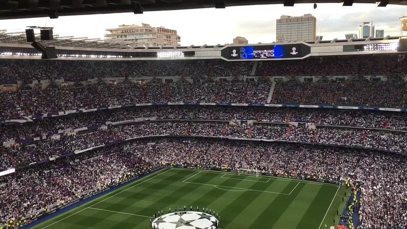 Alineaciones e himno Del Real Madrid partido semifinales champions league vs Atletico de Madrid