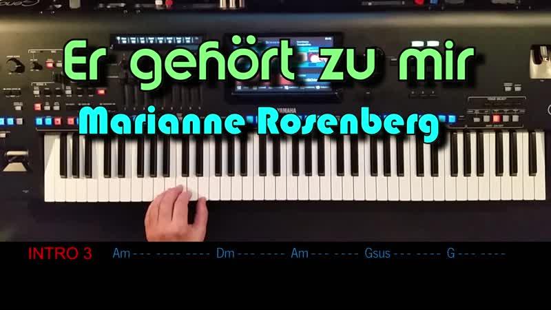 Er gehört zu mir - Marianne Rosenberg, Cover, eingespielt mit Style auf Yamaha Genos