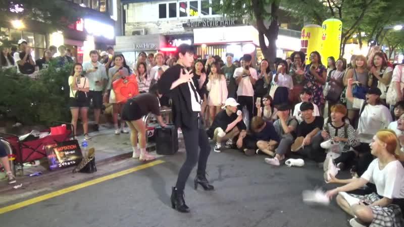 댄스팀 템테이션 (연합) - 효린(HYOLYN) - 달리(Dally) - 홍대 버스킹 2018.07.20일.hnh