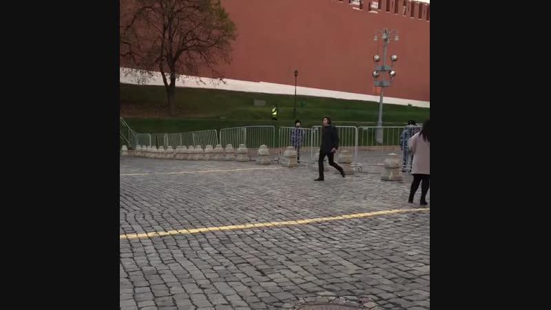 вот так запросто можно встретить Николая Цискаридзе в центре Москвы..это здОрово!