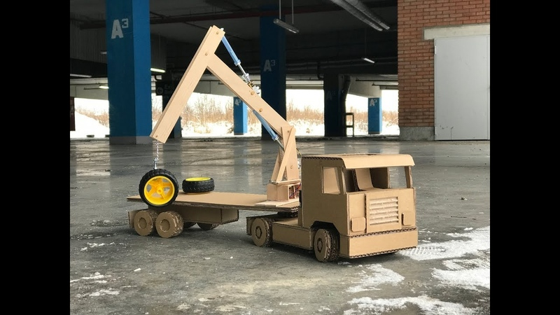 How to make Crane Truck. Cardboard toy DIY