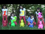 Learn Colors WToy Horses And Five Little Monkeys Jumping On The bad Good Songs For Kids