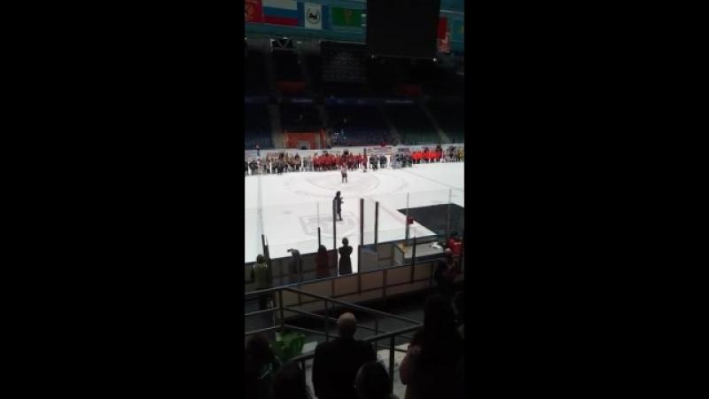 Гимн России на турнире Добрый лёд на Байкале