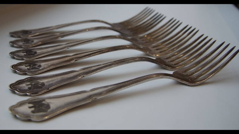 Set of table forks silver plated 3rd Reich Germany